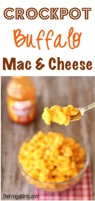 Crockpot Buffalo Mac and Cheese Recipe - from TheFrugalGirls.com