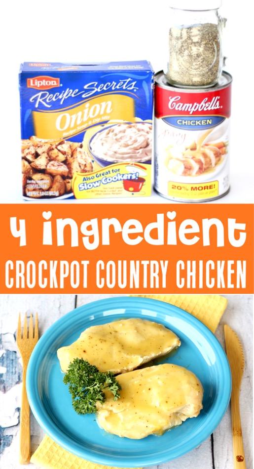 Crockpot Chicken and Gravy Recipe - Easy Dinner