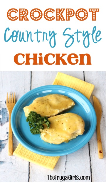 Crockpot Country Style Chicken Recipe from TheFrugalGirls.com