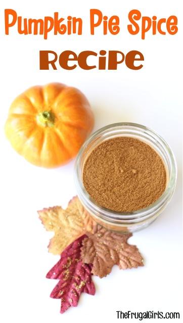 Pumpkin Pie Spice Recipe from TheFrugalGirls.com