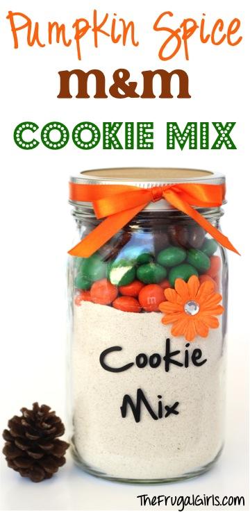 Pumpkin Spice MM Cookie Mix in a Jar