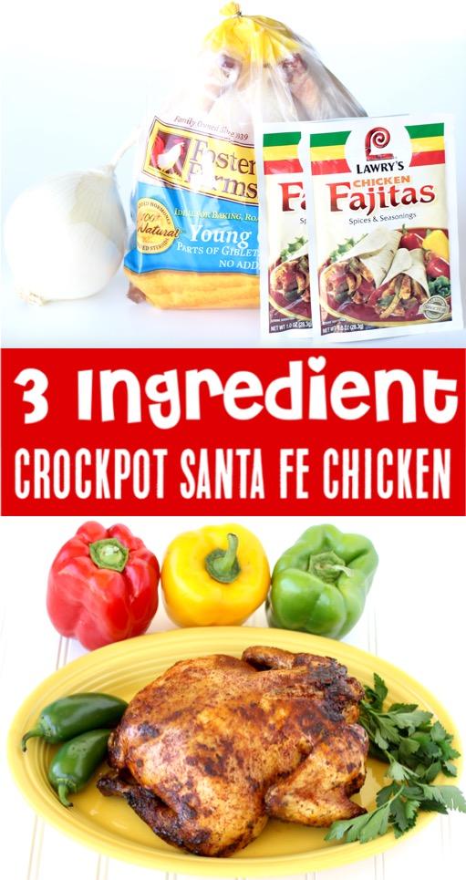 Whole Chicken Recipes - Easy Crockpot Santa Fe Chicken Recipe