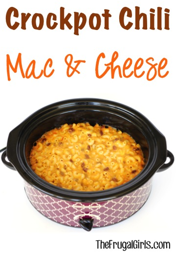 Crockpot Chili Mac and Cheese Recipe - from TheFrugalGirls.com