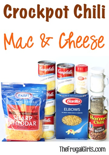 Crockpot Chili Macaroni and Cheese Recipe - from TheFrugalGirls.com