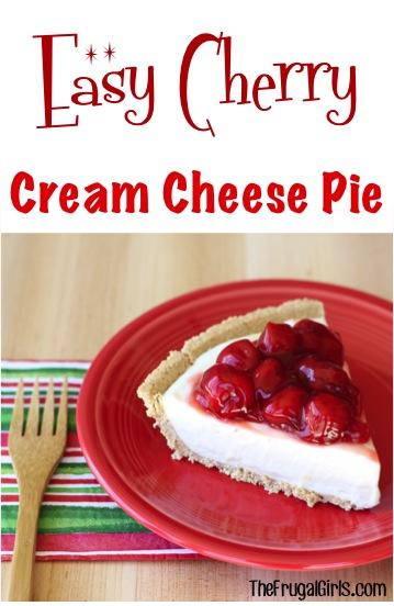 No-Bake Cherry Cream Cheese Pie Recipe at TheFrugalGirls.com