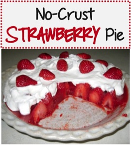 No-Crust Strawberry Pie Recipe