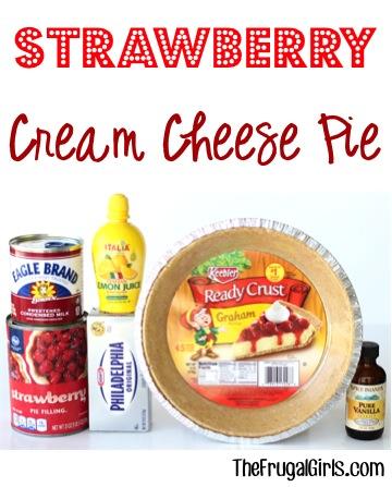 Strawberry Cream Cheese Pie Recipe - at TheFrugalGirls.com