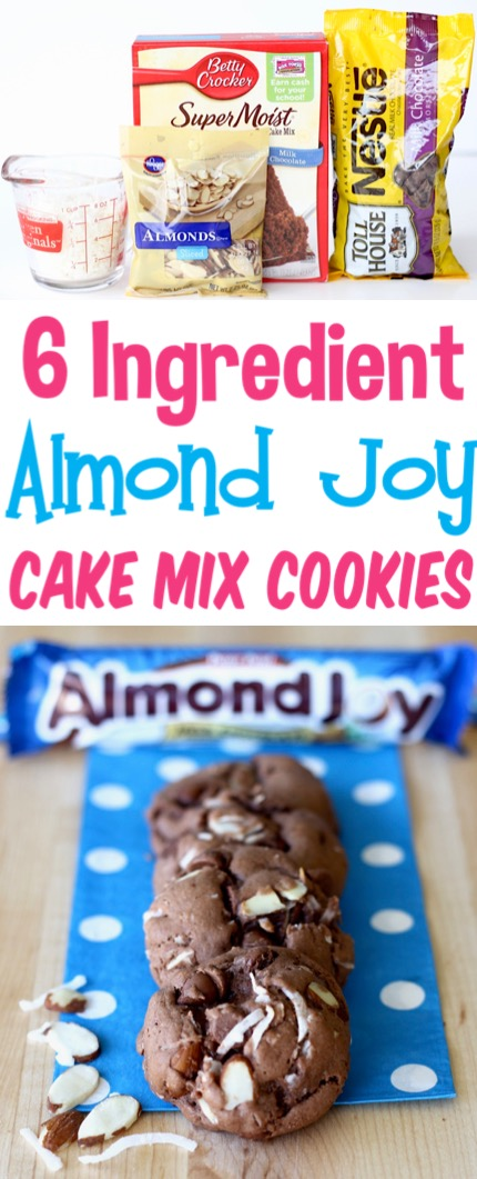 Chocolate Cake Mix Cookies Recipes Easy Almond Joy Coconut Almond Cake Mix Cookie Recipe