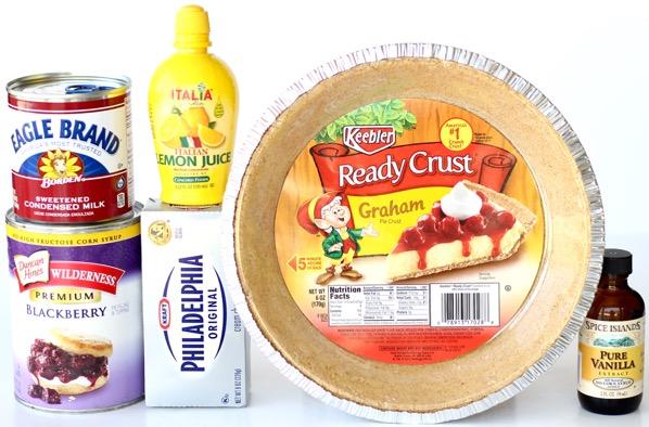 Easy Blackberry Cream Cheese Pie