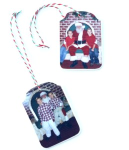 Easy Christmas Photo Ornament