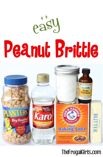 Easy Peanut Brittle Recipe at TheFrugalGirls.com