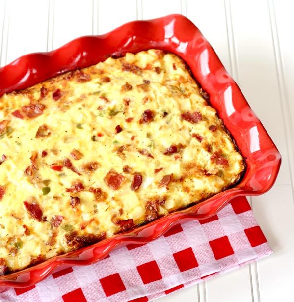 Easy Southwest Bacon Breakfast Casserole Recipe
