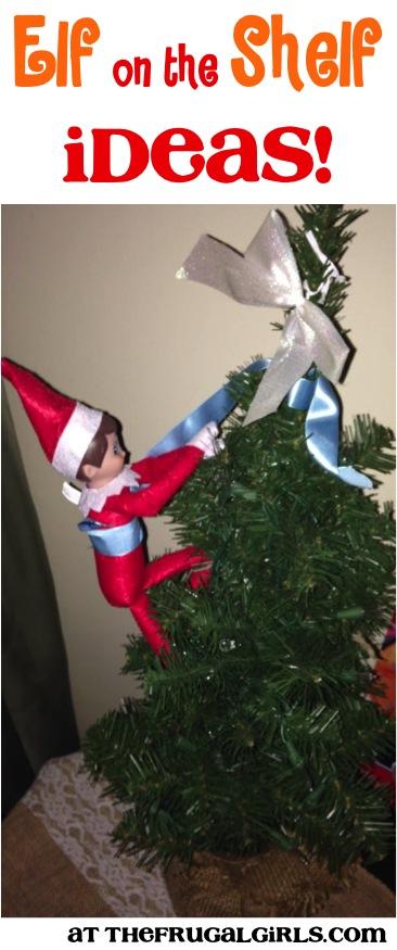 Elf on the Shelf Ideas Funny at TheFrugalGirls.com
