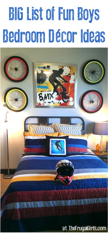 Boys Bedroom Decor Ideas at TheFrugalGirls.com