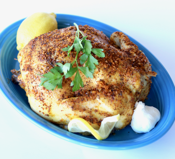 Crockpot Garlic Herb Whole Chicken Recipe