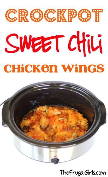 Crockpot Sweet Chili Chicken Wings Recipe - at TheFrugalGirls.com