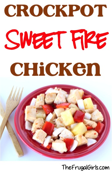 Crockpot Sweet Fire Chicken Recipe - from TheFrugalGirls.com
