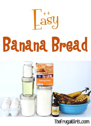 Banana Bread Recipe at TheFrugalGirls.com