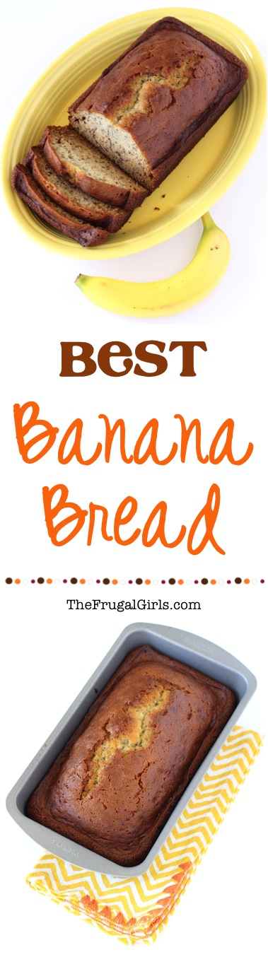 Homemade Banana Bread Recipe from TheFrugalGirls.com