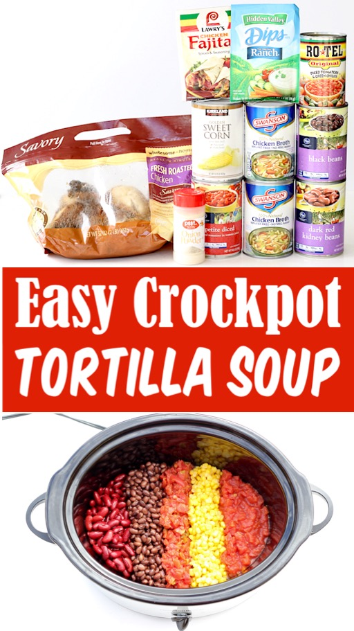 Chicken Tortilla Soup Recipe - Easy Crockpot Southwest Soup