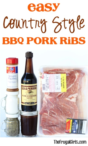 Easy Country Style Barbecue Pork Ribs Recipe from TheFrugalGirls.com