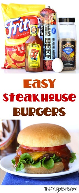 Easy Steakhouse Burger Recipe from TheFrugalGirls.com