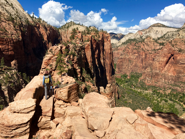 Angels Landing Trail from TheFrugalGirls.com