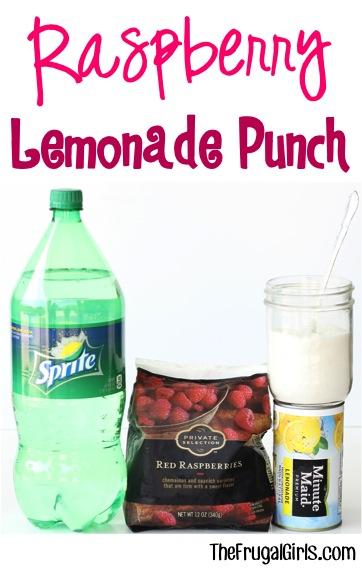 Raspberry Lemonade Punch Recipe at TheFrugalGirls.com