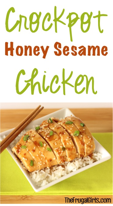 Crockpot Honey Sesame Chicken Recipe - from TheFrugalGirls.com
