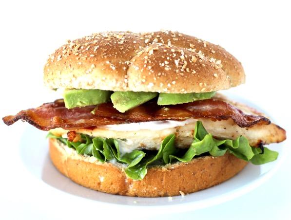 Bacon Avocado Ranch Grilled Chicken Sandwich Recipe