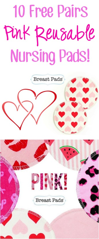 Free Reusable Pink Nursing Pads at TheFrugalGirls.com