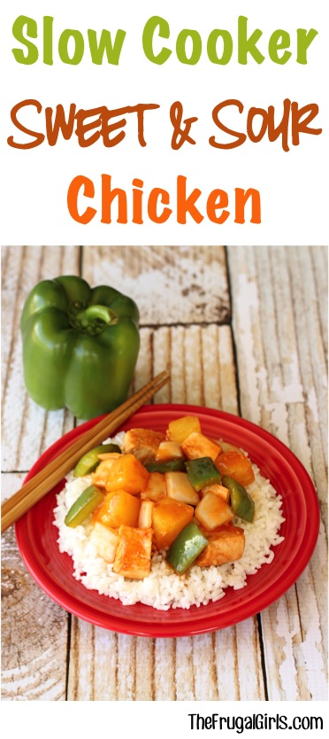 Slow Cooker Sweet and Sour Chicken Recipe from TheFrugalGirls.com