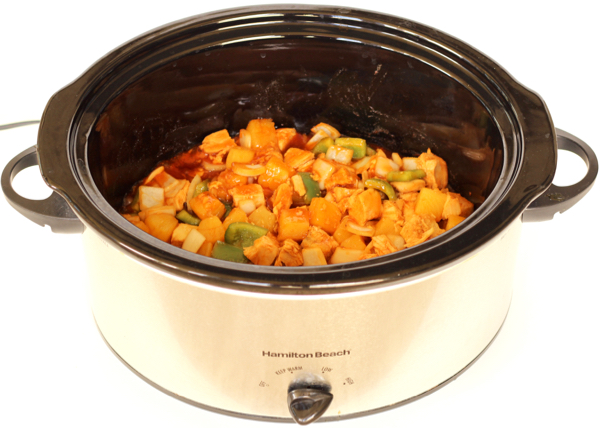 Slow Cooker Sweet and Sour Chicken with Pineapple