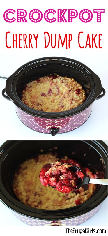 Crockpot Cherry Dump Cake Recipe at TheFrugalGirls.com