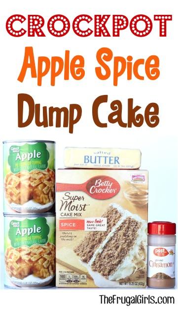 Crockpot Apple Spice Dump Cake Recipe from TheFrugalGirls.com