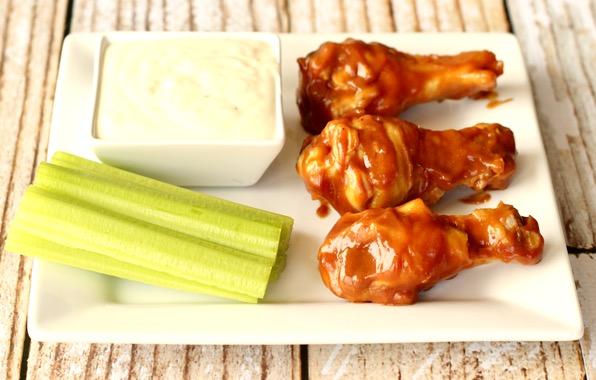 Crockpot Honey Mustard BBQ Wings Recipe