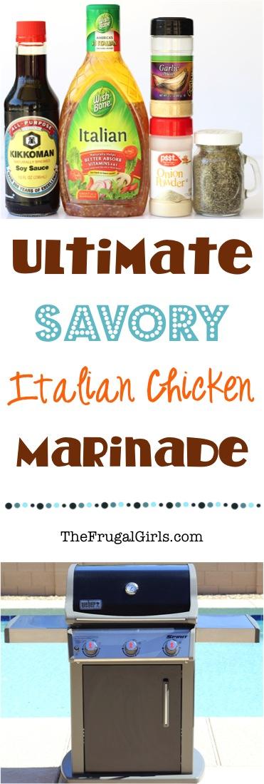 Savory Chicken Marinade Recipe from TheFrugalGirls.com