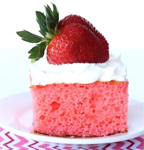 Skinny Strawberry Cake Recipe - at TheFrugalGirls.com