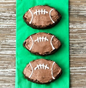 Easy Football Brownies