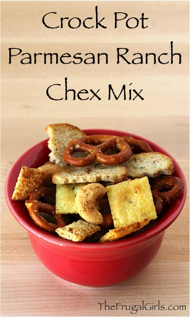 Crock Pot Chex Mix Recipe - at TheFrugalGirls.com