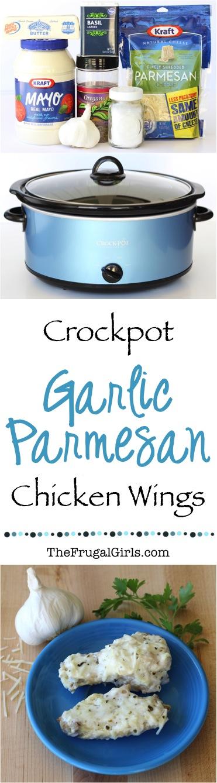 Crock Pot Garlic Parmesan Wings from TheFrugalGirls.com