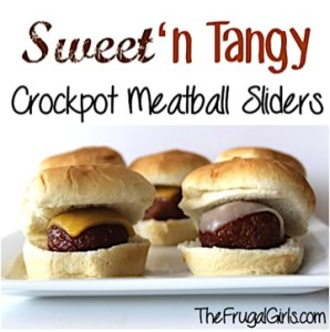 Crockpot Sweet and Tangy Meatball Sliders