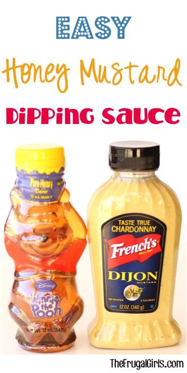 Honey Mustard Dipping Sauce Recipe at TheFrugalGirls.com