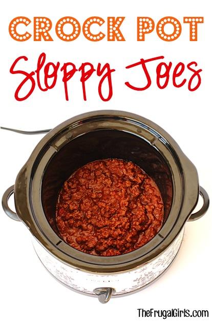 Crock Pot Sloppy Joe Recipe from TheFrugalGirls.com #shop