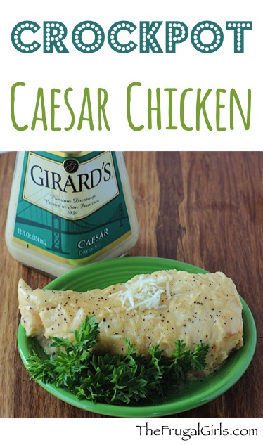 Crockpot Caesar Chicken Recipe from TheFrugalGirls.com