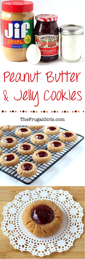 Peanut Butter and Jelly Cookie Recipe from TheFrugalGirls.com