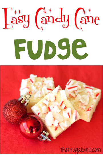 Candy Cane Fudge Recipe - from TheFrugalGirls.com