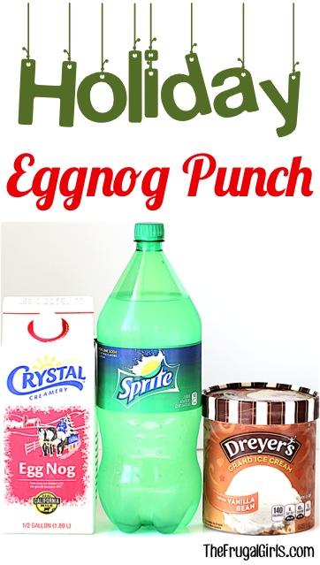 Christmas Eggnog Punch Recipe at TheFrugalGirls.com