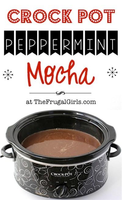 Crock Pot Peppermint Mocha Recipe - at TheFrugalGirls.com