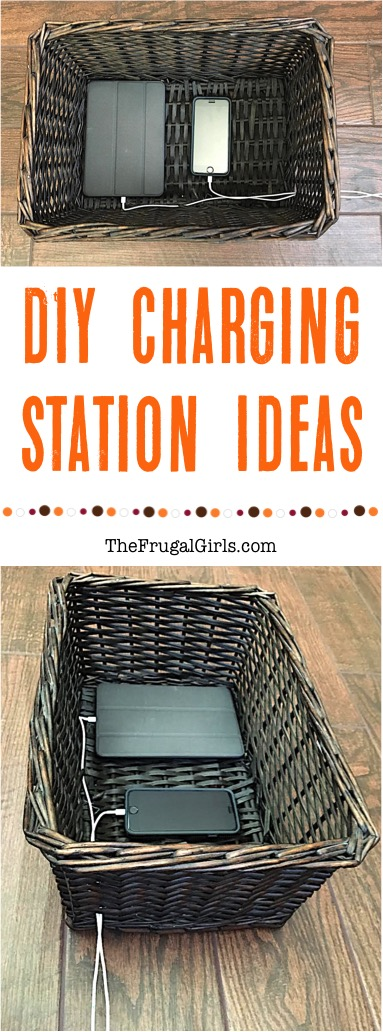 DIY Charging Station Ideas from TheFrugalGirls.com